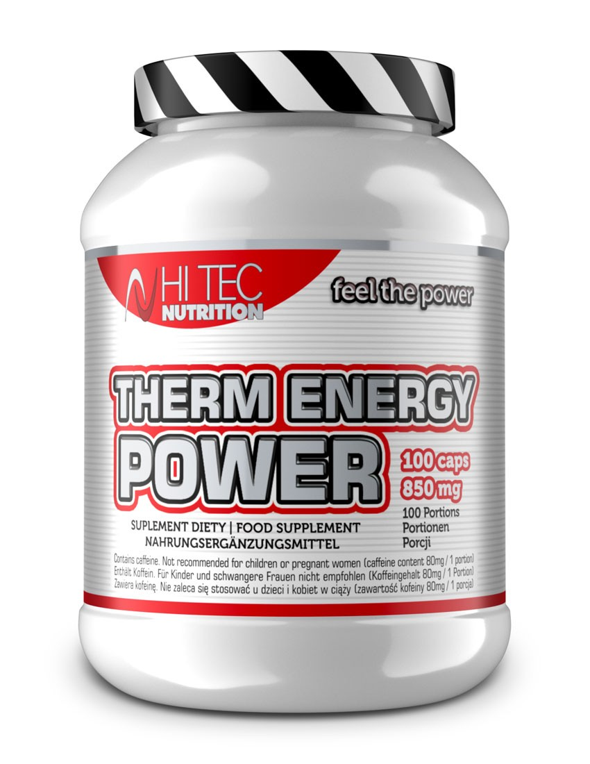 Concentration Vitality and 100/% Fat Reduction!!! Therm Energy Power 100 Caps